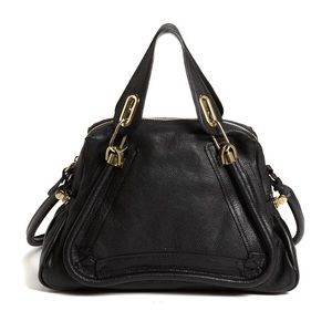 Black Chloe Medium Paraty Shoulder Bag & Satchel